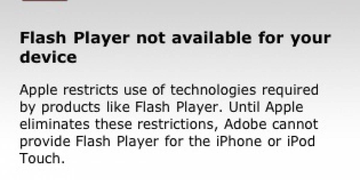 Adobe deja en claro porque no hay soporte Flash para el iPhone