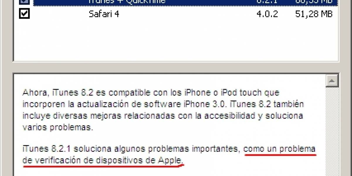 Apple bloquea la sincronización de iTunes con el pre