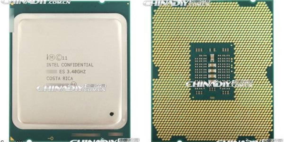 """Imágenes del CPU y die del microprocesador Intel Core HEDT de tercera generación """"Ivy Bridge-E"""""""