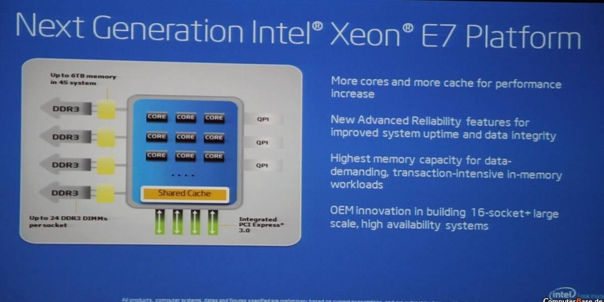 "CPU Intel Xeon E7 V2 Series ""Ivy Bridge-EX"" soportará hasta 1.5TB de memoria"