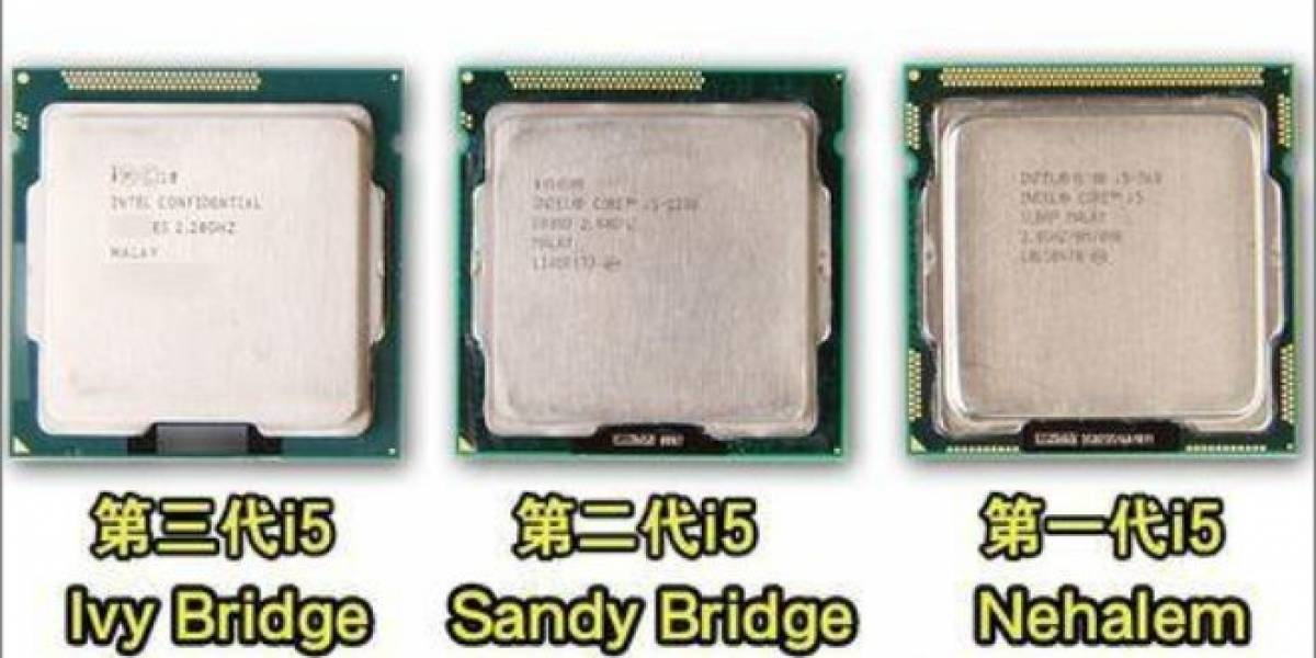 Core i5: Nehalem vs Sandy Bridge vs Ivy Bridge a la misma frecuencia