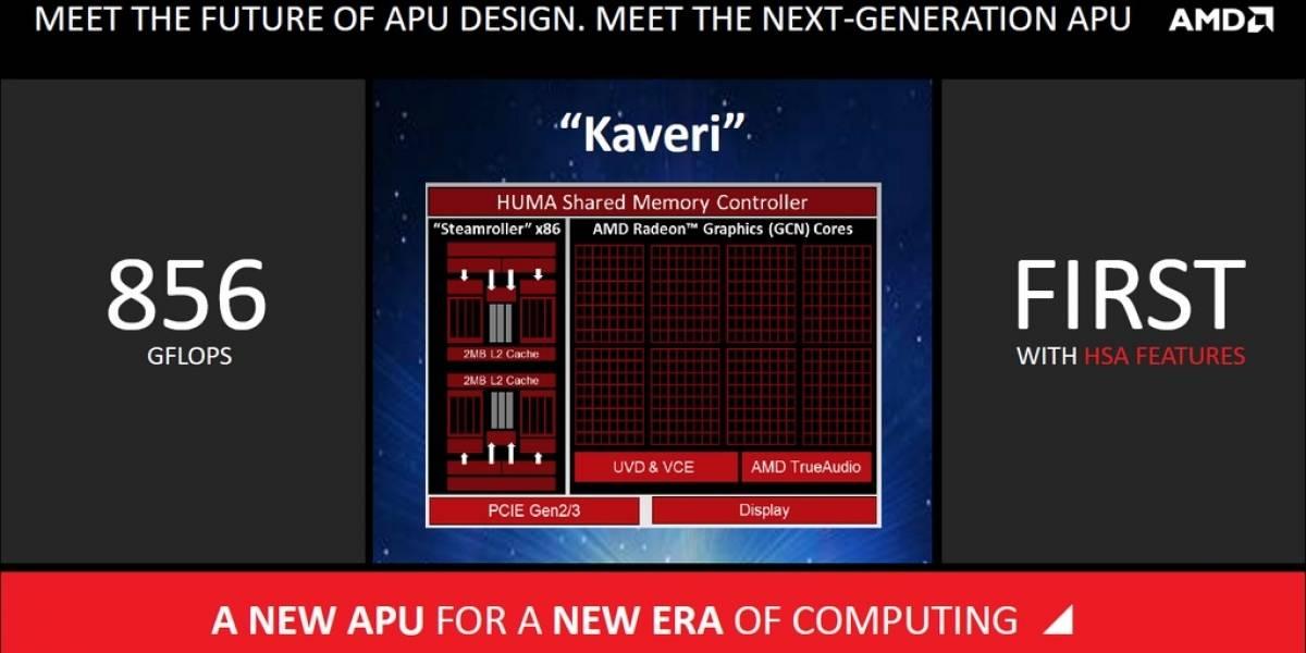 """AMD anuncia sus APU A Series de cuarta generación """"Kaveri"""""""