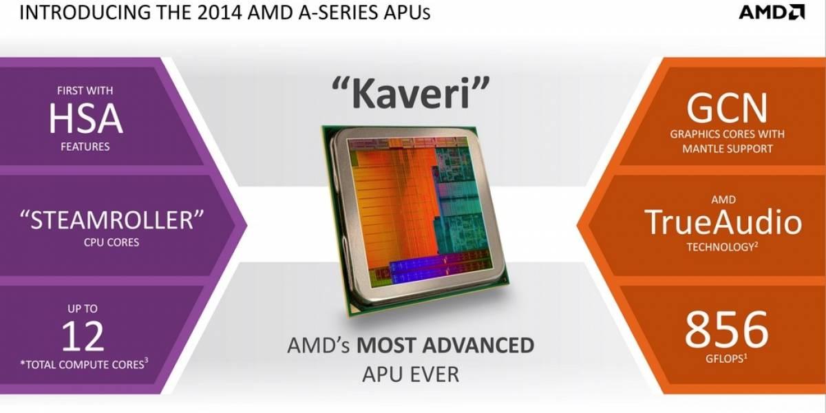 """AMD alista 4 nuevos APUs A-7000 Series """"Kaveri-DT"""""""