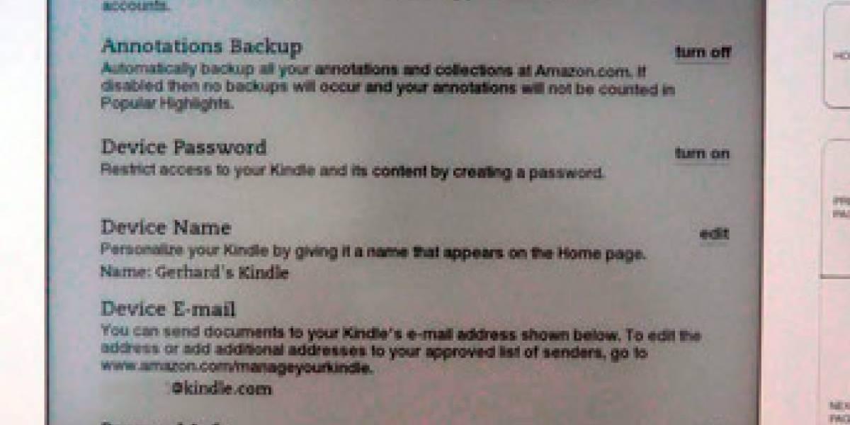 Ya llegó la versión 2.5 del firmware del Kindle
