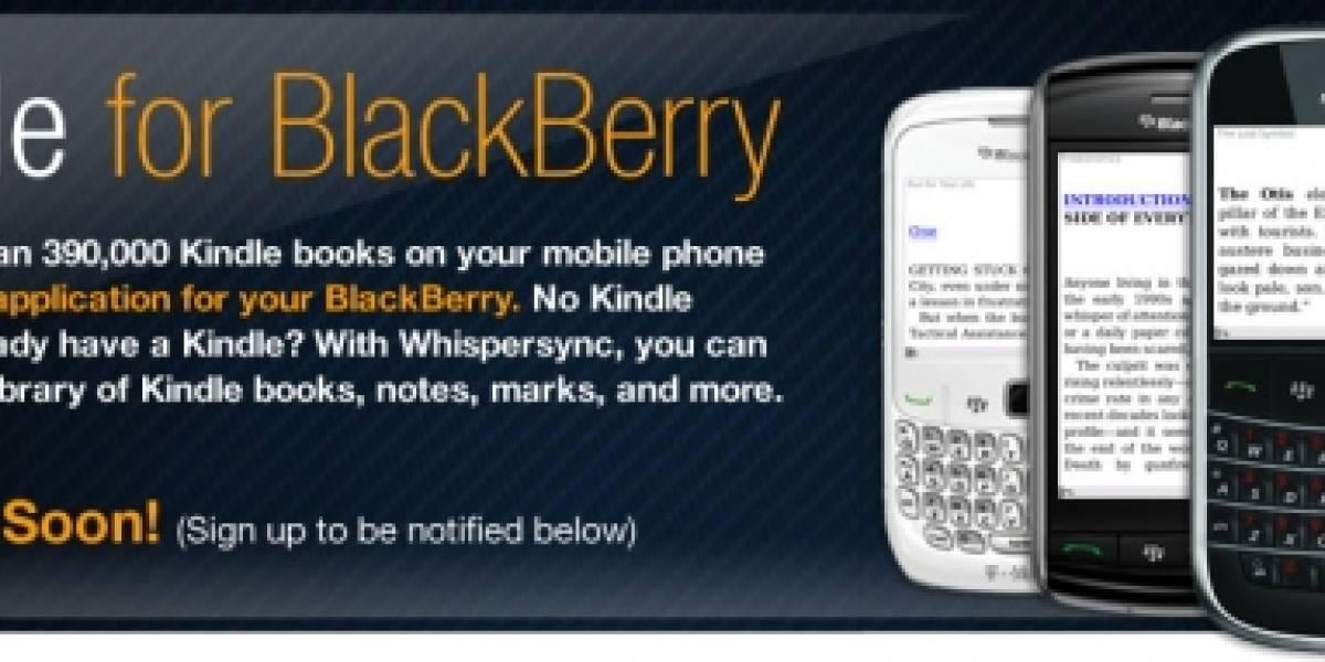 La aplicación Kindle para BlackBerry será lanzada muy pronto