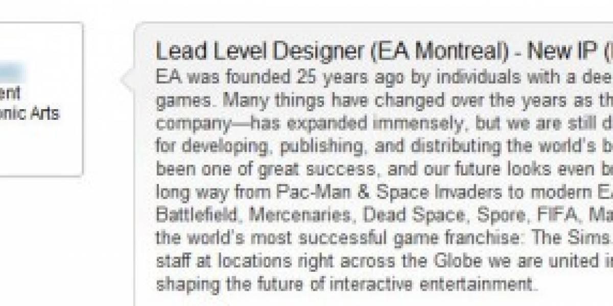 Electronic Arts planea desarrollar otro juego de terror