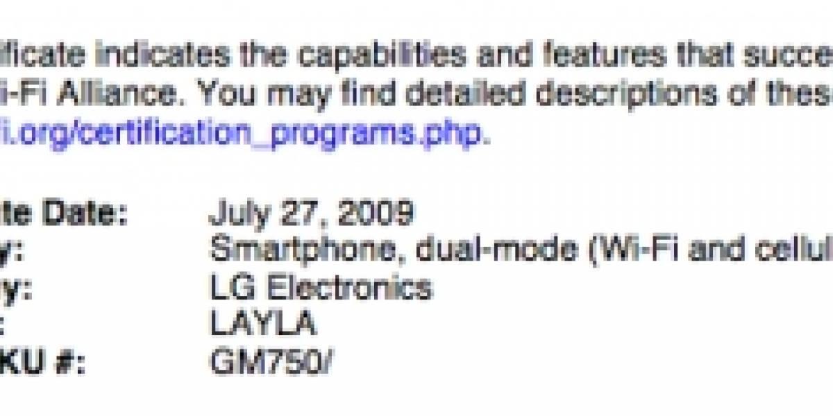 Filtran las especificaciones del nuevo LG GM750 Layla