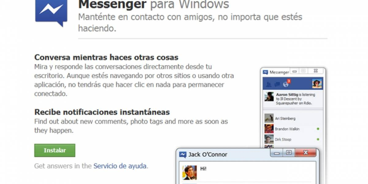 Se estrena oficialmente cliente para Windows de Facebook Messenger