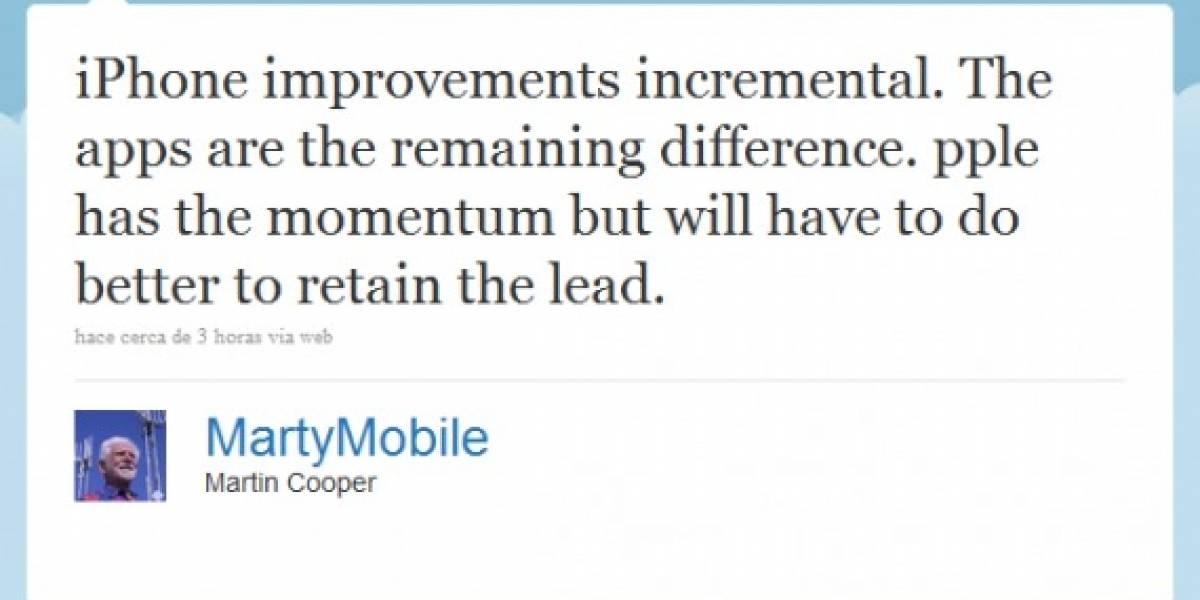 El inventor del celular no está impresionado con el iPhone 4