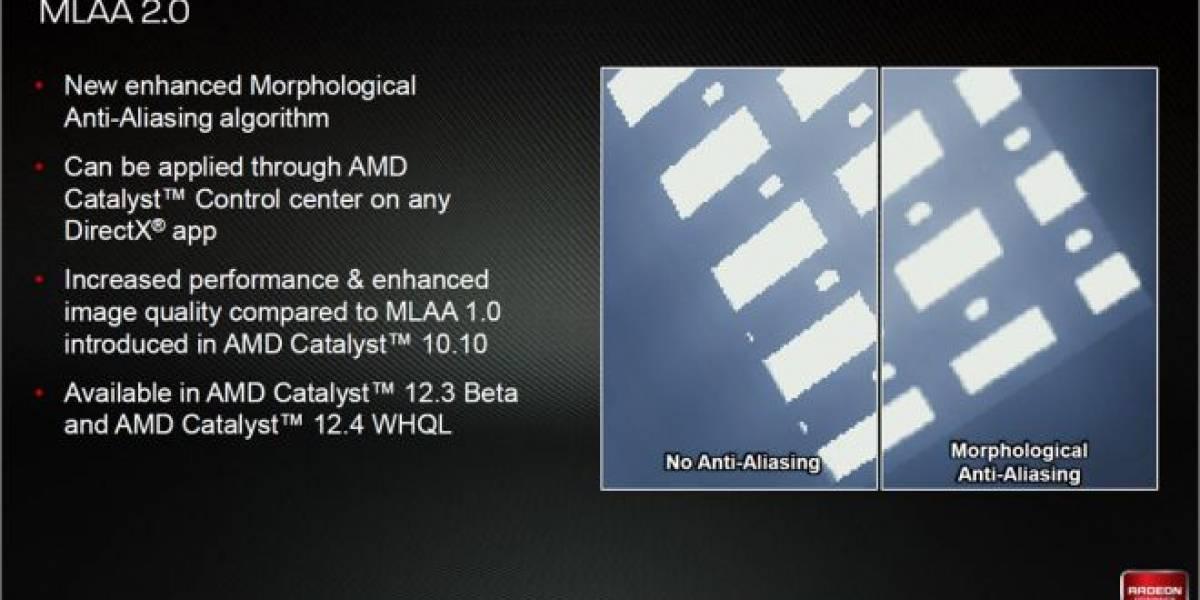 El nuevo método de alisado MLAA 2.0 enfrentado a MLAA 1.0 y 4xMSAA