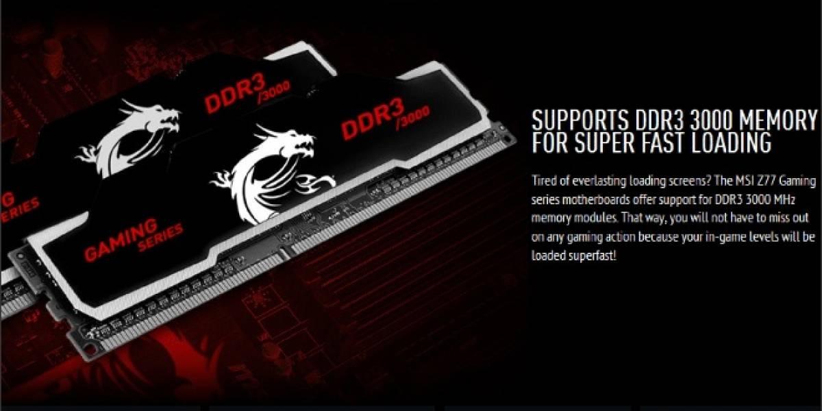 CeBIT 2013: MSI anuncia sus módulos de memoria Gaming Series DDR3-3000
