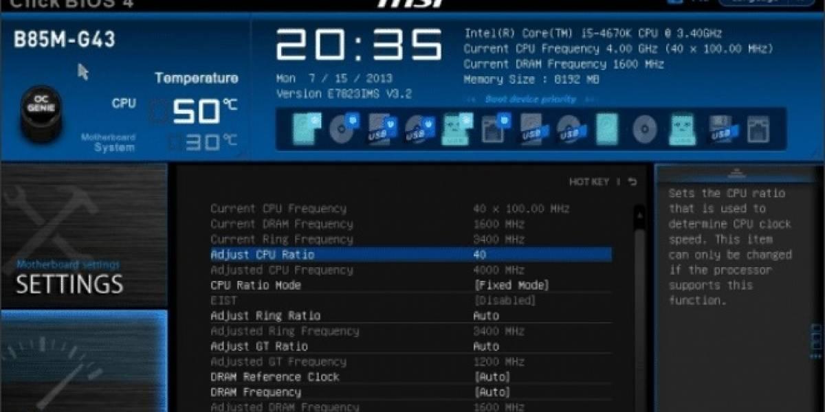 MSI lanza sus BIOS compatibles con Non-Z OC