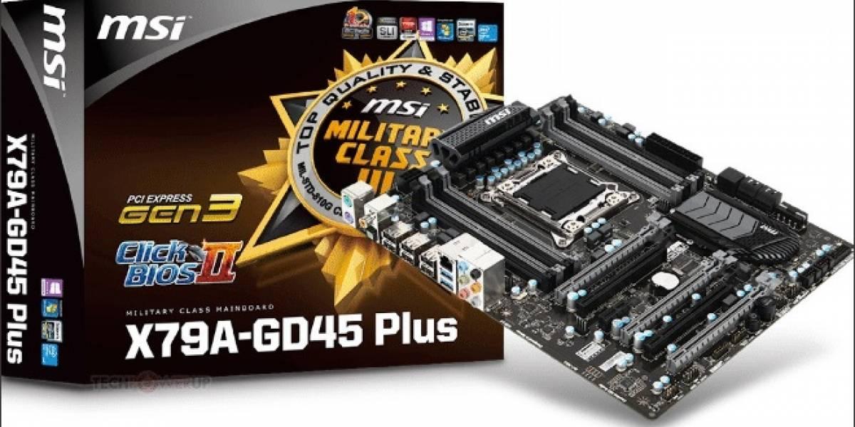 MSI lanza su nueva tarjeta madre X79A-GD45 PLUS