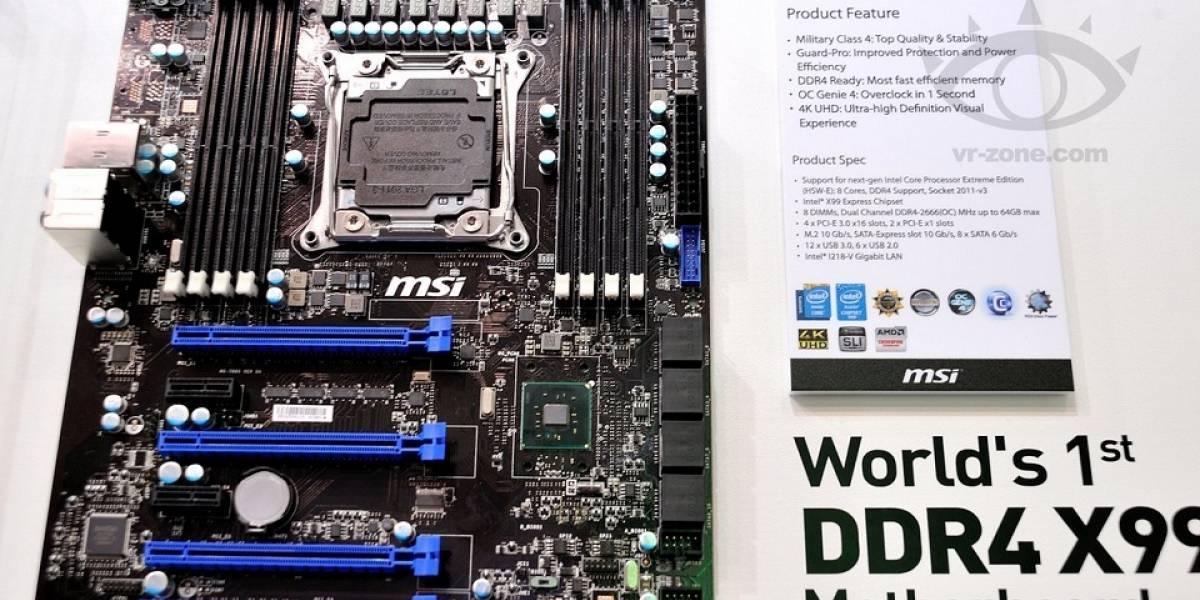 "MSI muestra tarjeta madre basada en el chipset Intel X99 ""Wellsburg"""