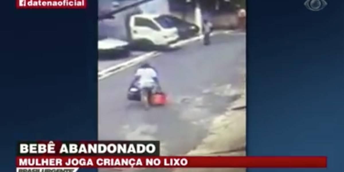 Mulher joga bebê em caçamba de lixo na zona sul de São Paulo