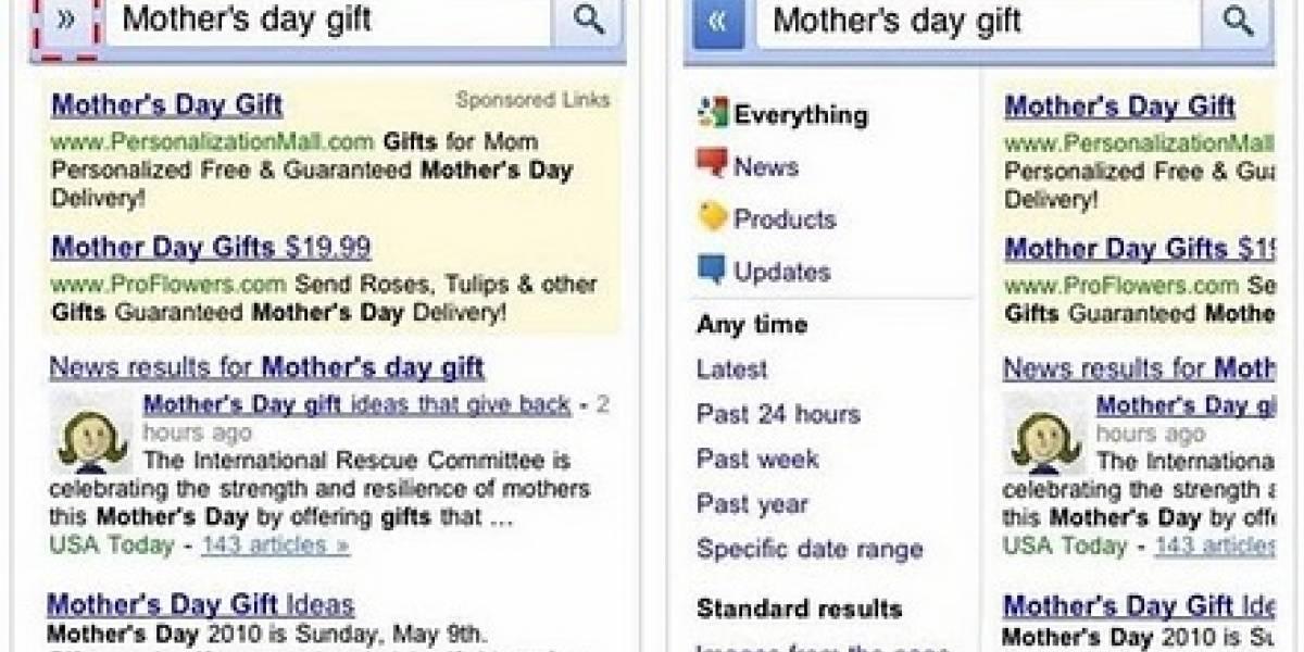 Google le da un nuevo look a las búsquedas en los móviles
