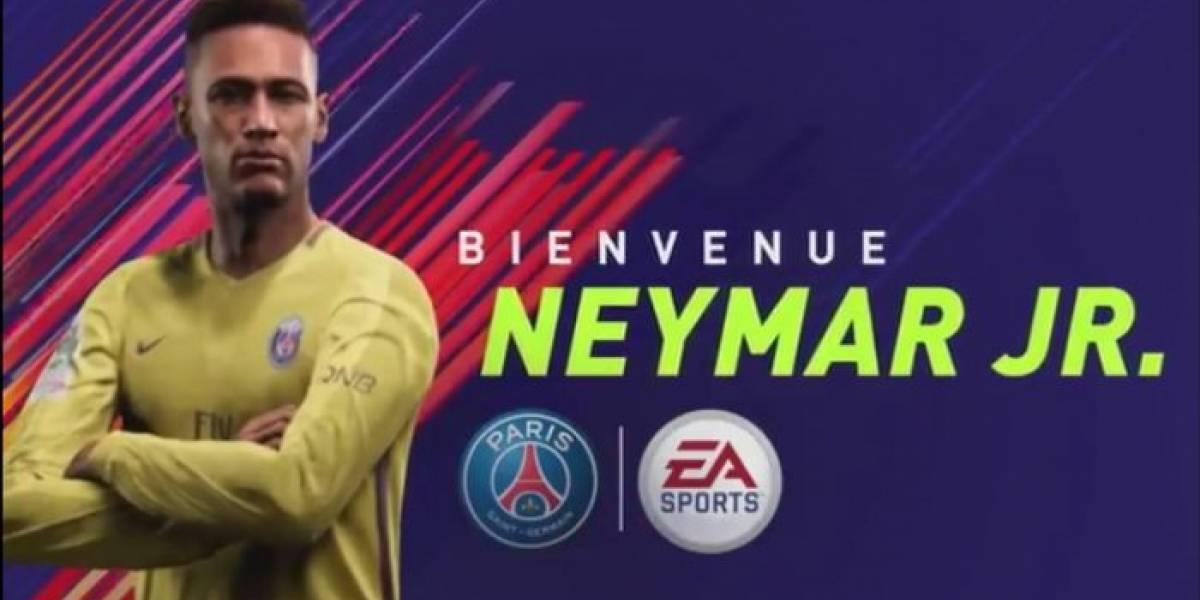 FIFA 18 ya tiene a Neymar en el París Saint-Germain