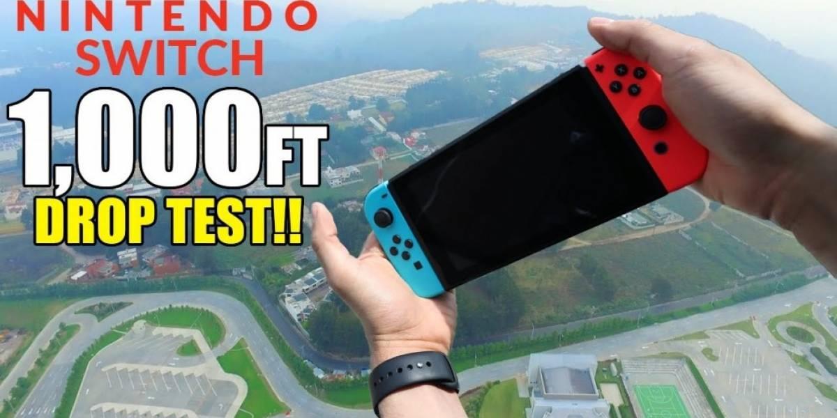 Vean cómo un Nintendo Switch sobrevive a una caída de 300 metros