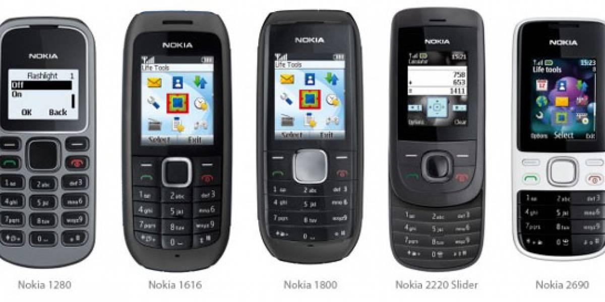 Nokia 1280, 1616, 1800, 2220 Slide y 2690: Los nuevos móviles lanzados por Nokia