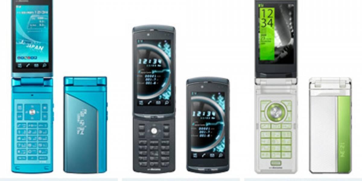 NTT Docomo anunció 19 nuevos móviles (galería de imágenes)