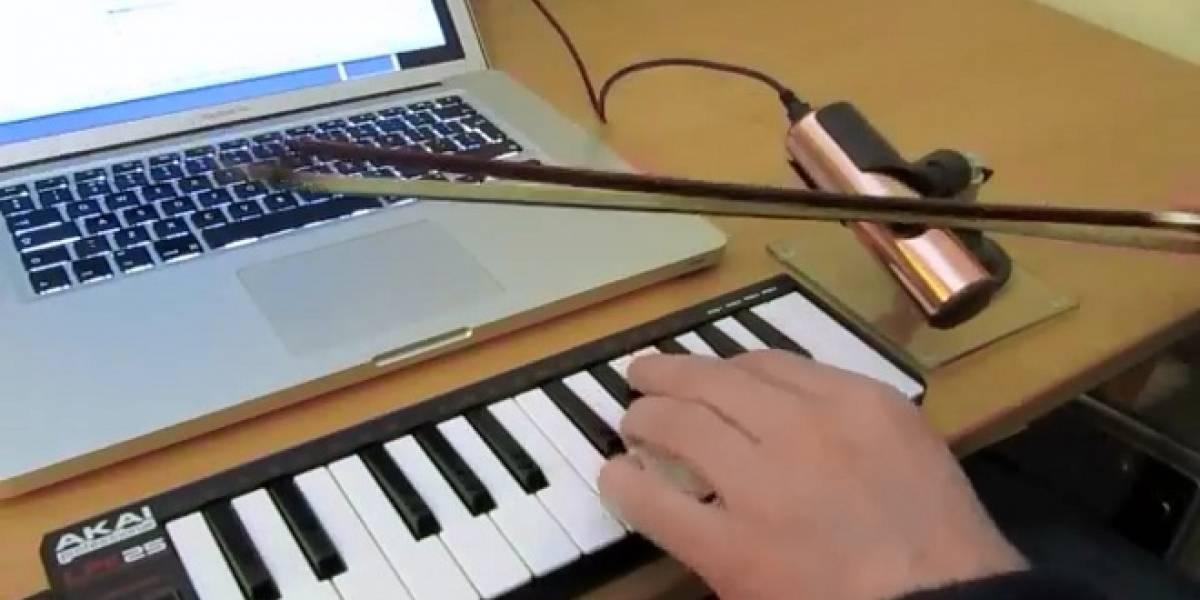 O-Bow, el violín que produce música a partir de un laser