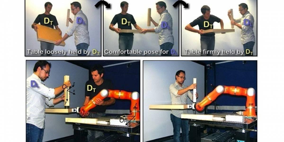 Inteligencia Artificial: Enseñan a robot a colaborar con usuario a ensamblar una mesa.