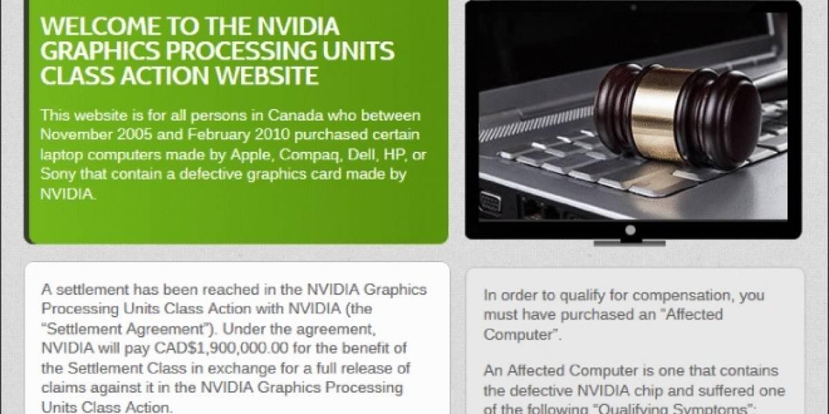 NVIDIA pierde juicio ante usuarios Canadienses