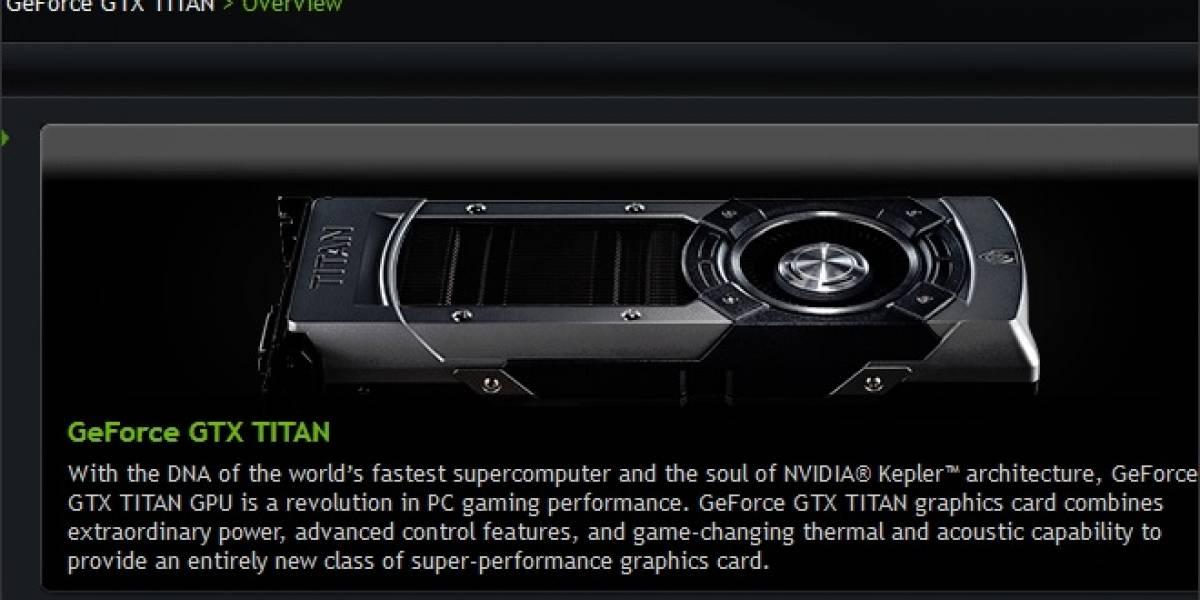 NVIDIA GeForce GTX Titan a prueba (Actualizada)