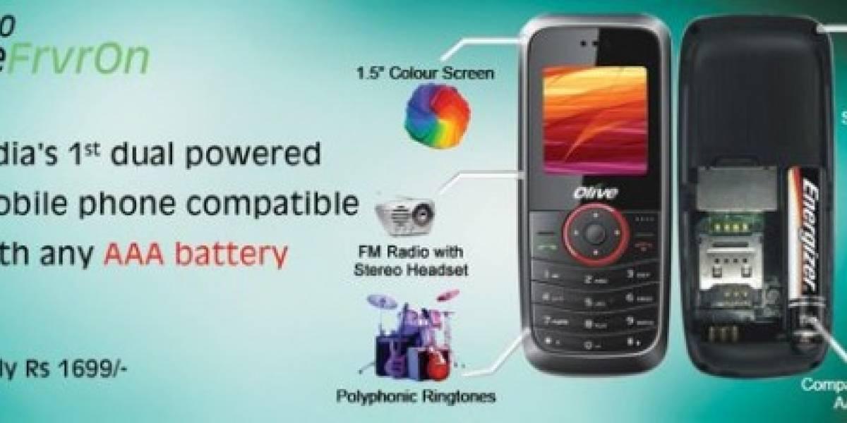 Empresa india lanza celular a pila
