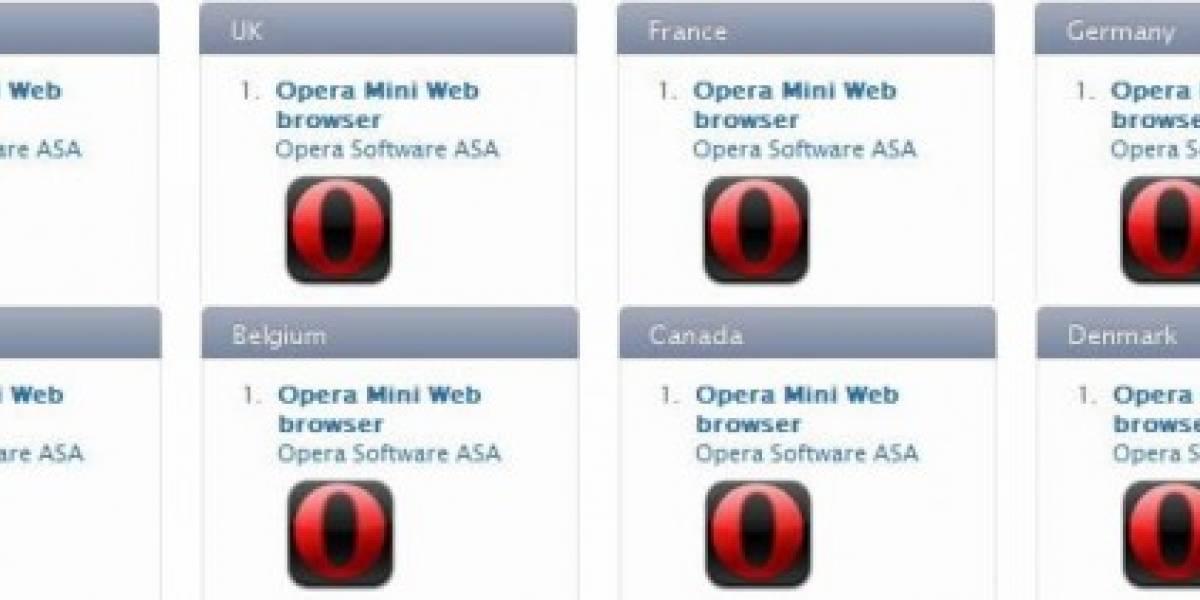 Opera mini domina en la App Store