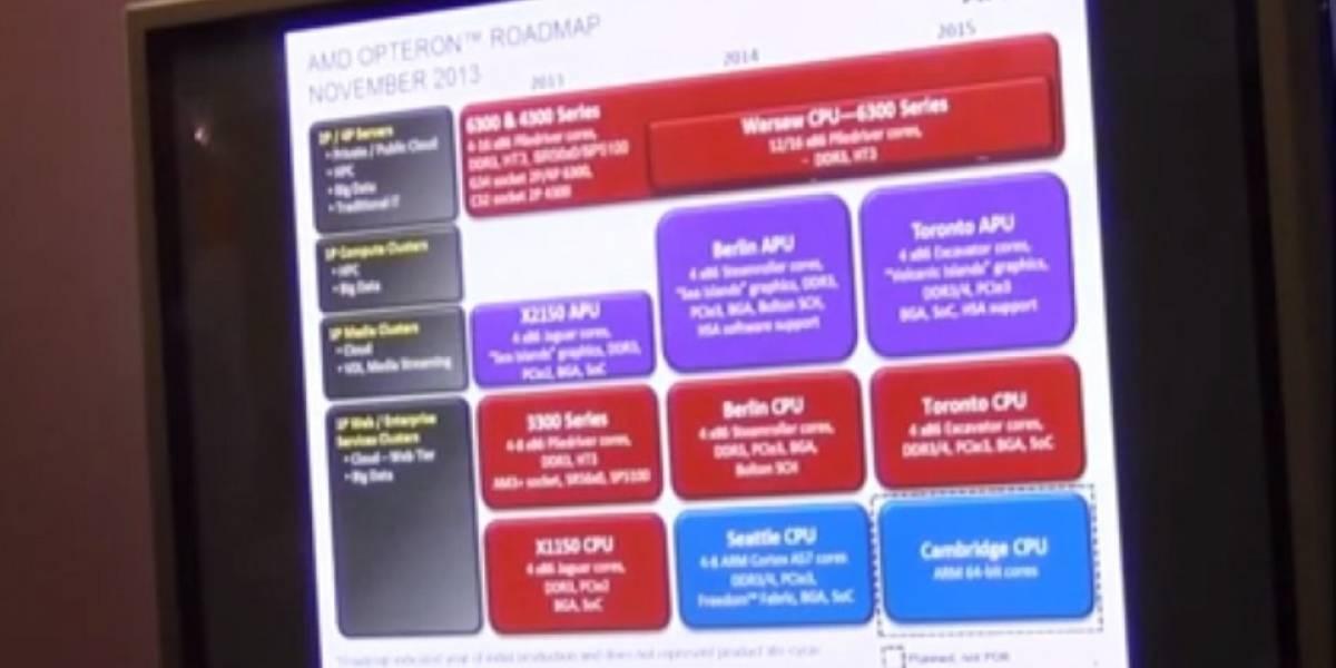 """AMD revela sus futuros SoC Opteron """"Toronto"""" y """"Cambridge"""""""