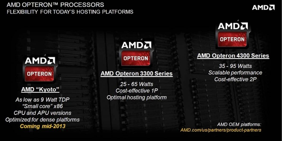 """AMD detalla sus nuevos CPUs y APUs Opteron """"Kyoto"""""""