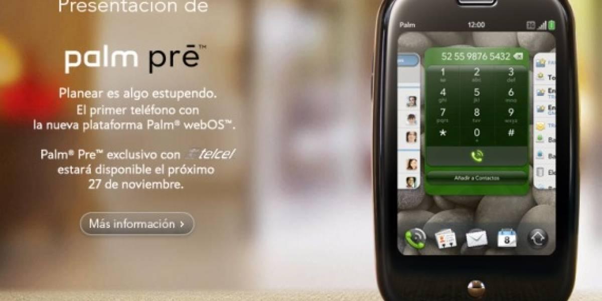México: Telcel lanza la Palm Pre el 27 de Noviembre