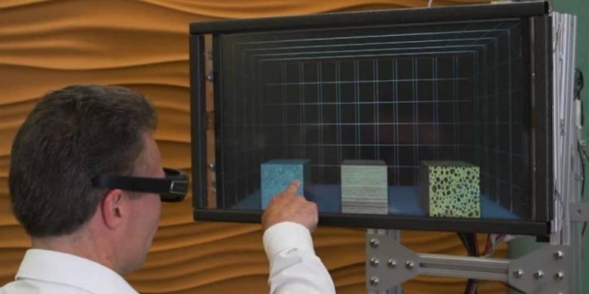 Microsoft desarrolla pantalla táctil 3D que permite identificar objetos virtuales a través del tacto