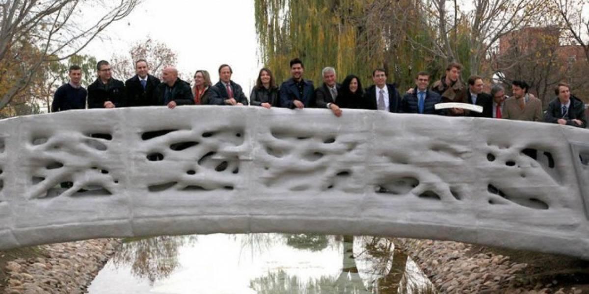 Así luce el primer puente peatonal  impreso en 3D