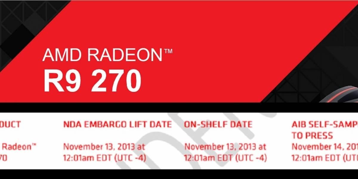 """GPU AMD Radeon R9 270 """"Curacao Pro"""" llega el 13 de noviembre"""