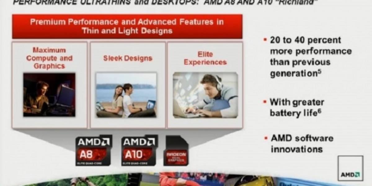 """Rumor: Los APU AMD A6000 Series """"Richland-DT"""" serán lanzados en junio 2013"""