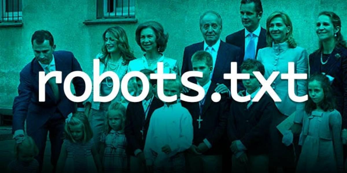 La Casa Real Española crea un revuelo en redes sociales por un simple robots.txt