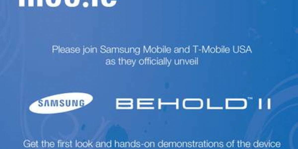 El 12 de noviembre será presentado el Samsung Behold II