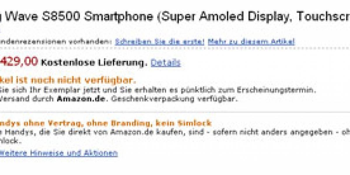 En Amazon.com, el Samsung Wave cuesta EUR€429