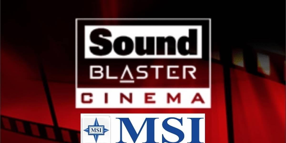 Tarjetas madre MSI G Series tendrán la tecnología Sound Blaster Cinema