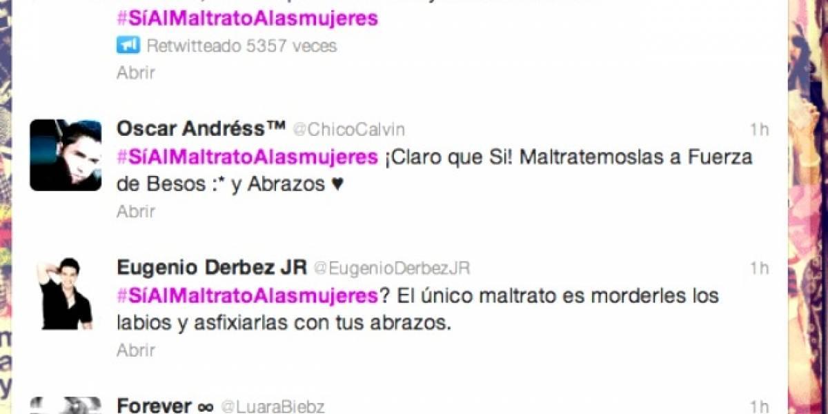 #Síalmaltratoalasmujeres el TT que genera debate en Twitter