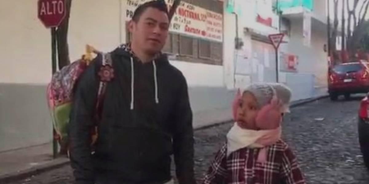VIDEO: Niña regaña a papá que no se enteró que no había clases