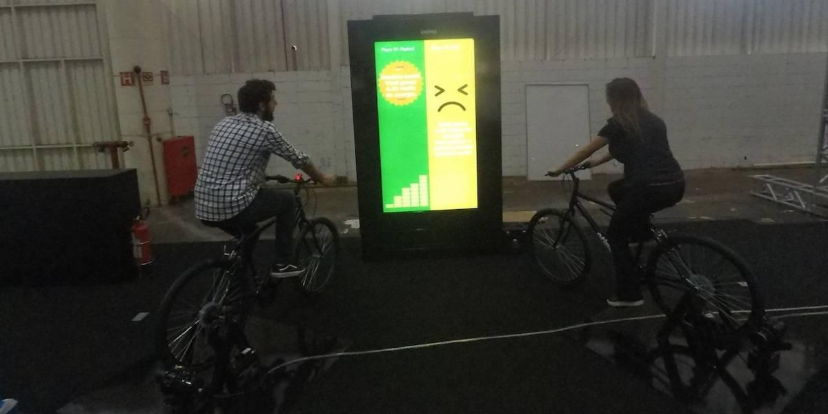 Campus Party: visitantes geram energia elétrica em ação colaborativa para criar cidade inteligente