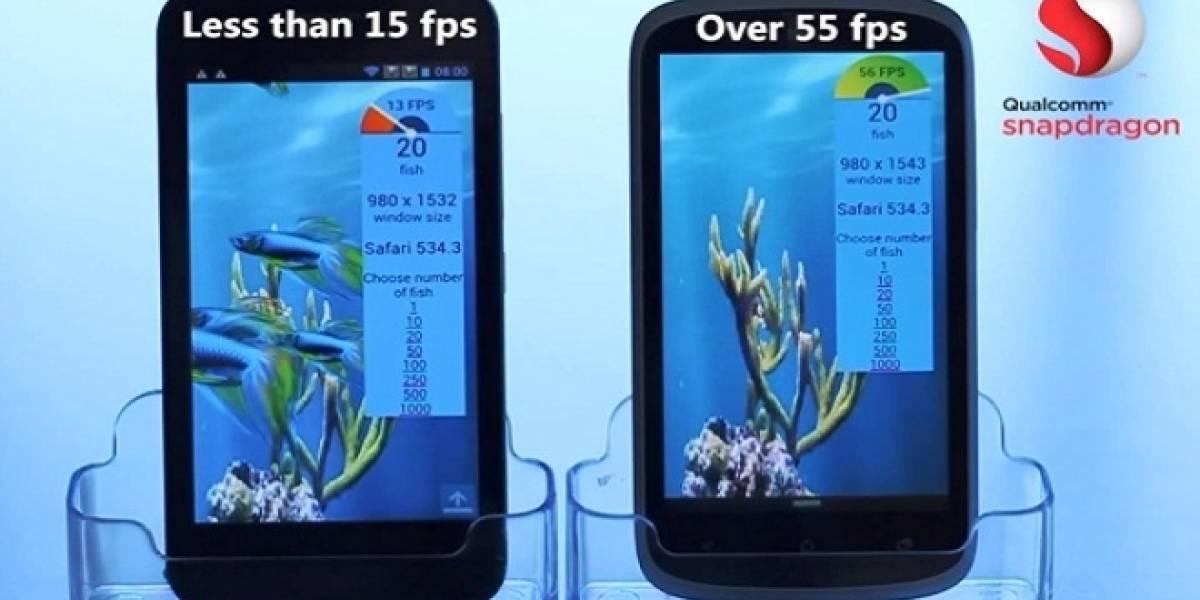 Qualcomm muestra el rendimiento gráfico de su SoC Snapdragon S400