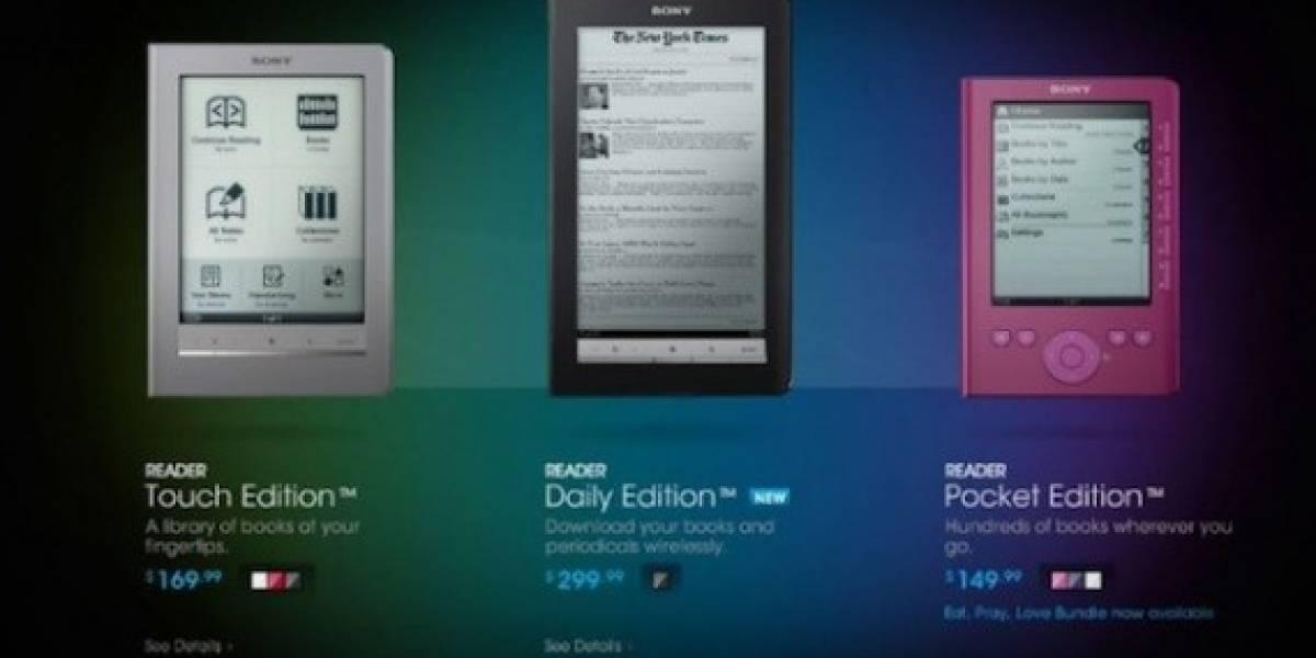Sony rebaja el precio de sus e-readers