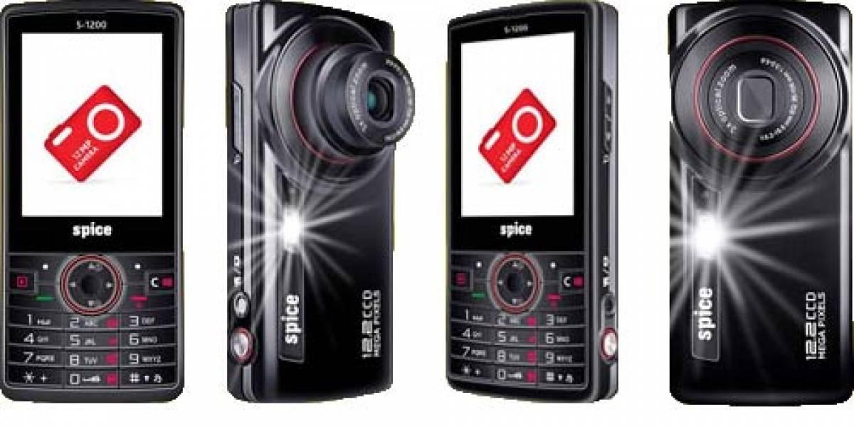 Spice S-1200: Celular con cámara de 12 megapixeles con sensor CCD y detección de rostros