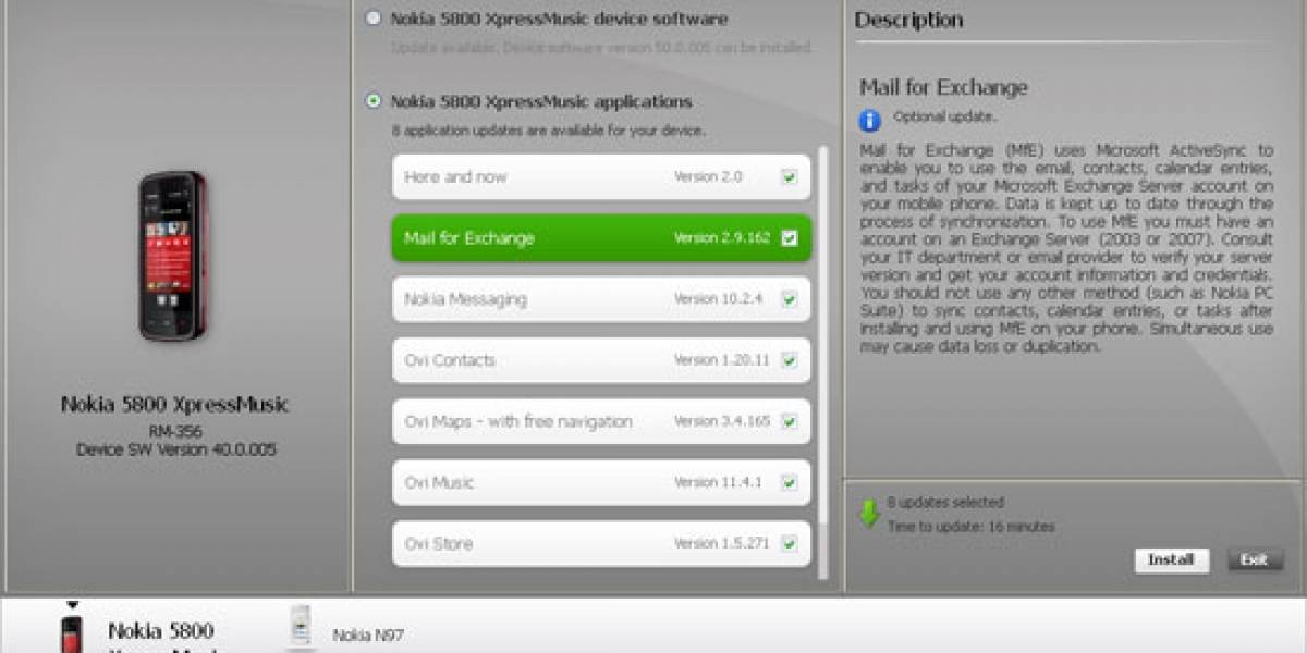 Nokia Software Updater, ahora más simple