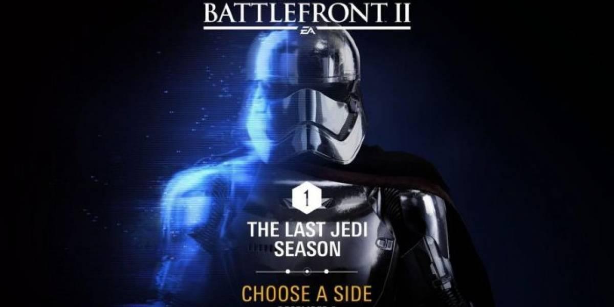 Se revela el contenido de The Last Jedi que recibirá Star Wars Battlefront II