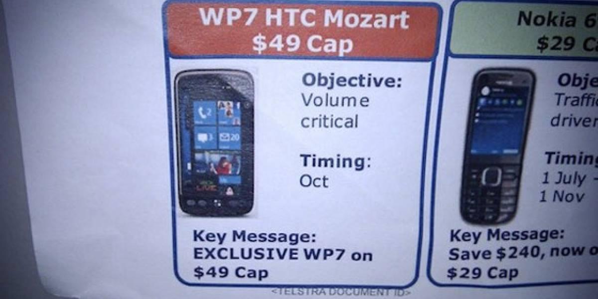 Futurología: HTC lanzará en octubre el Mozart con Windows Phone 7